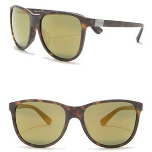 Prada Mens 58mm Rounded Oversized Sunglasses NWT